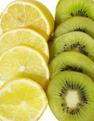 kiwi and lemon slices