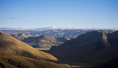 landscape mountain pass view, tibet