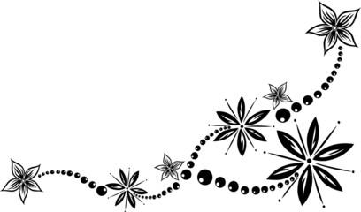 Blume, Blüte, Ranke, filigran, floral, mit Kugeln