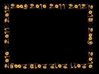 New year 2010 - frame