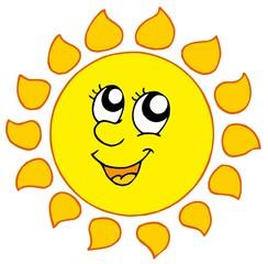Cartoon smiling Sun