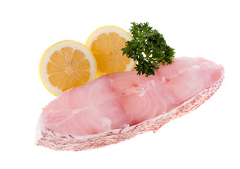 Pink grouper with lemon and parsley