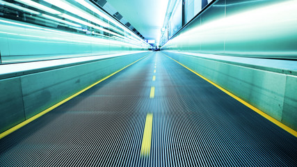 Moving walkway in an airport