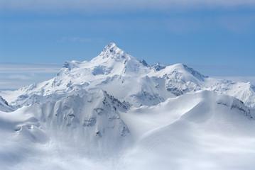 Georgia. Caucasus. Eagle over Shdavleri Mount