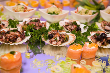 Seafood arrangement