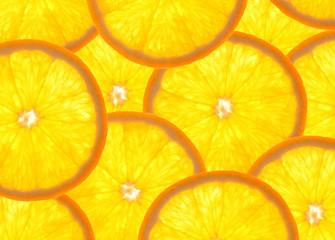 Aluminium Prints Slices of fruit Orangen