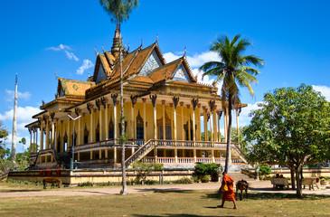 Buddhist Temple around Kratje, Cambodia.