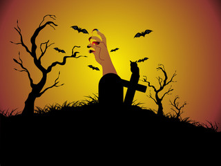 illustration of halloween background series3 set13