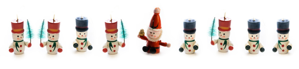 Christmas wooden toys banner