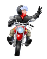 Poster Motorcycle greeting rider