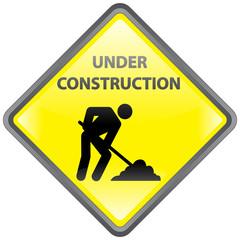 """Under Construction"" Signpost"