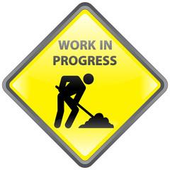 """""""Work In Progress"""" Signpost (vector)"""