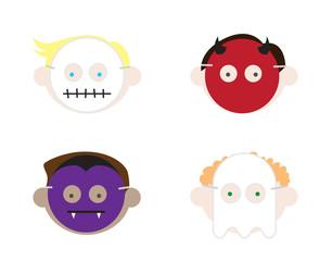 Boys Wearing Halloween Masks