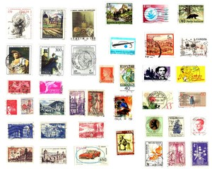 Western Europe, bunch of stamps