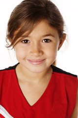 Portrait of happy smiling young child