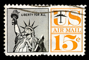 US Air Mail Postage Stamp