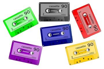 Bunte Cassetten