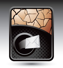 Mail on cracked bronze backdrop