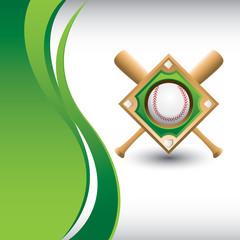 Baseball diamond on vertical green wave backdrop