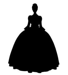Cinderella Silhouette Illustration