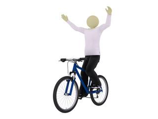 Man ride bike with no handlebars