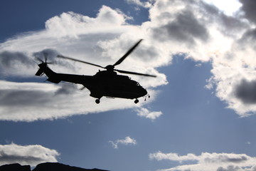 Swiss Army helicopter
