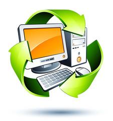 concept recyclage informatique / électronique