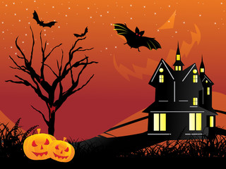 halloween background, illustration