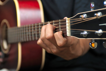 Guitar Playing - Closeup