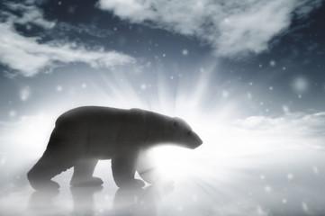 Polar Bear In A Snow Storm