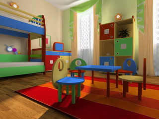 Interior of the baby room
