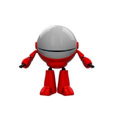 Robot in closed helmet