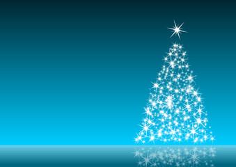 blue christmas decoration with christmas tree