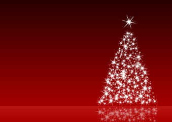 red christmas decoration with christmas tree