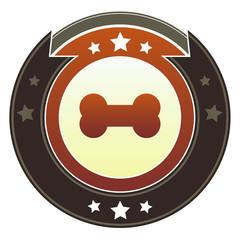 Bone or pet icon on autumn button
