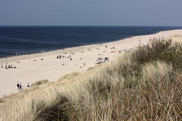 Fototapete - Düne, Strand und Nordsee bei Wenningstedt auf Sylt