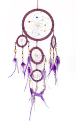 Dream catcher isolated on white.