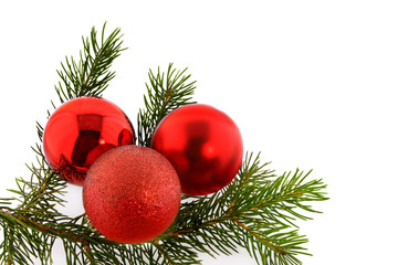 christmas fir-tree with sphere