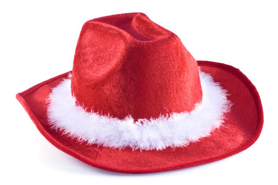 One christmas time cowboy hat.