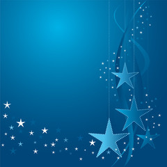 white and blue Christmas stars