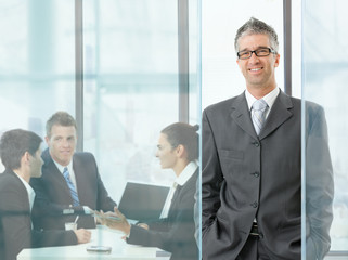 Businessman on meeting