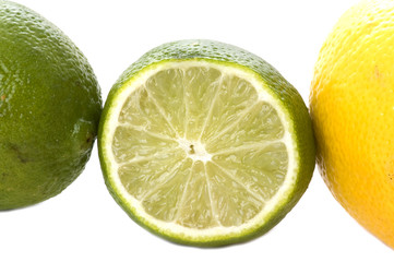 Lime and lemon macro