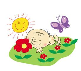 baby rest in summer