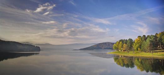 fall in  batak dam lake