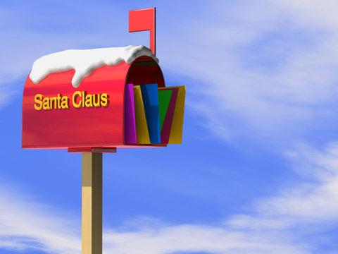 santa claus letterbox