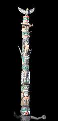 Totem Pole on Black