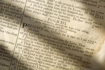 Fotobehang Kranten Bible Scriptures