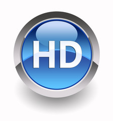 ''HD'' glossy icon