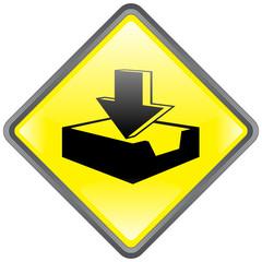 """Panneau """"Télécharger"""" -- """"Download"""" Signpost"""