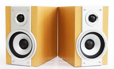 A pair of hi-fi speakers